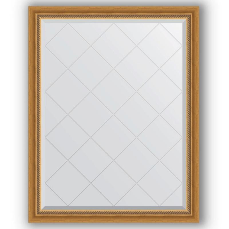 Зеркало Evoform Exclusive-G 118х93 Серебряный бамбук