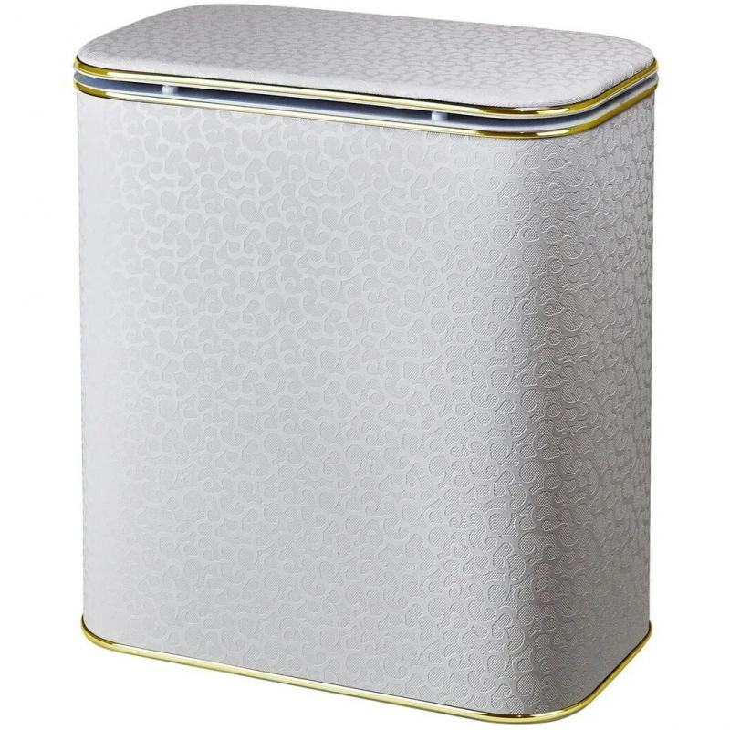 Корзина для белья Cameya Цветы FWG-M-9 с микролифтом средняя Бежевая, кант золото дефлектор капота egr австралия для hyundai ix35 2010 2015