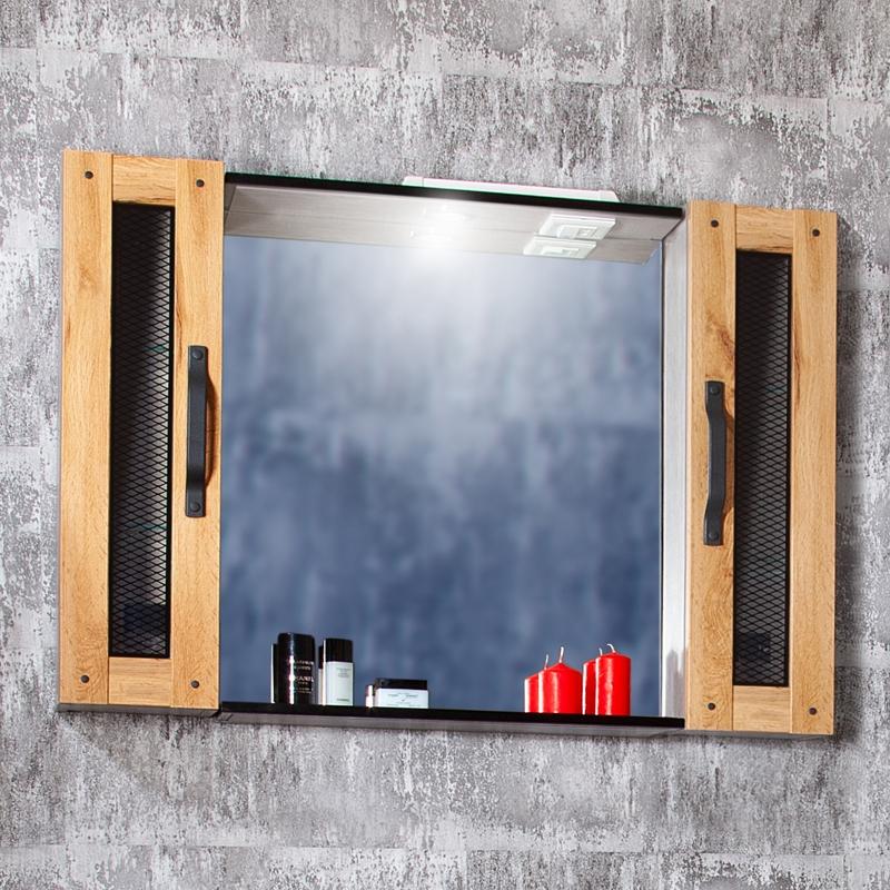 Зеркальный шкаф Бриклаер Лофт 100 Метрополитен грей зеркальный шкаф бриклаер бали 40 светлая лиственница