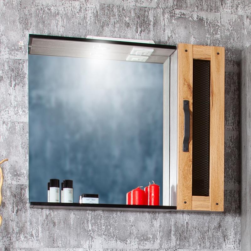 Зеркальный шкаф Бриклаер Лофт 80 Метрополитен грей зеркальный шкаф бриклаер бали 40 светлая лиственница