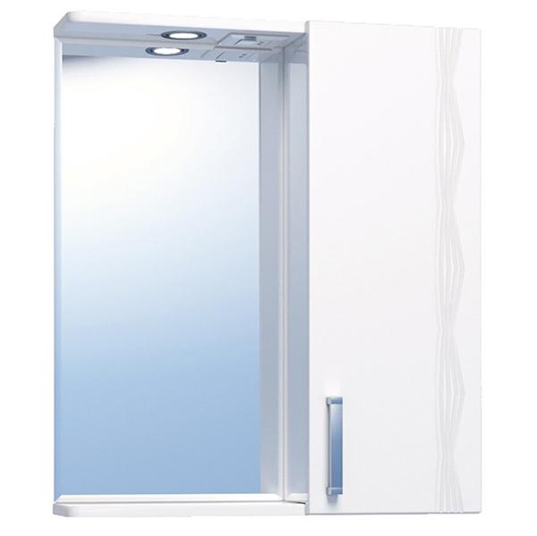 Зеркало со шкафом Vigo Atlantic 1-550 R с подсветкой Белое зеркало шкаф vigo atlantic 16 550пр белый 2000170715504