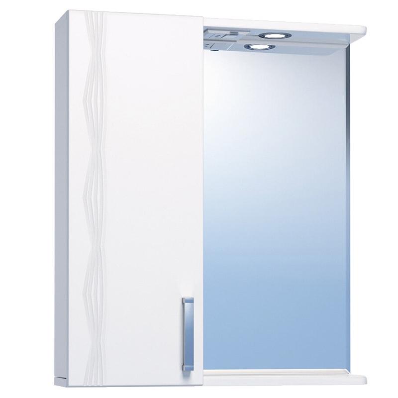 Зеркало со шкафом Vigo Atlantic 1-550 L с подсветкой Белое зеркало со шкафом vigo callao 60 l с подсветкой белое