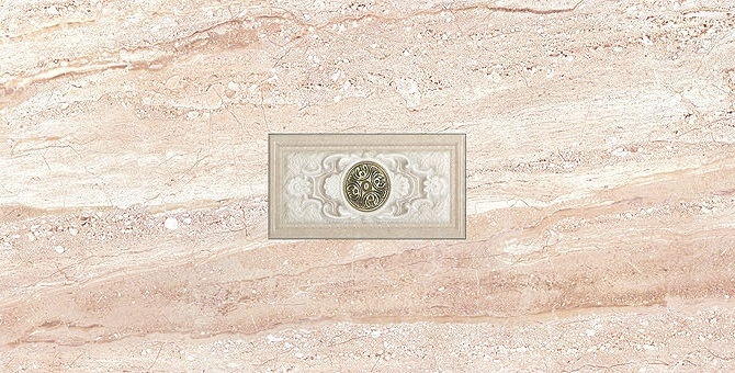 Керамический декор Gayafores Daino Natural Inserto Tiara 34х67см