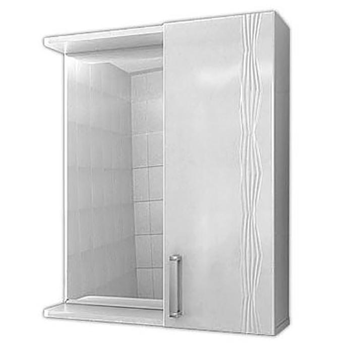 Зеркало со шкафом Vigo Atlantic 16-600 R с подсветкой Белое зеркало vigo 19 600 л jika