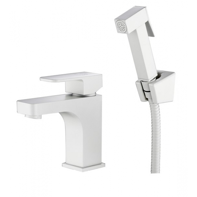 Фото - Смеситель для раковины Kaiser Sonat 34088-4 с гигиеническим душем Белый смеситель для раковины kaiser sonat 34088 4 с гигиеническим душем белый