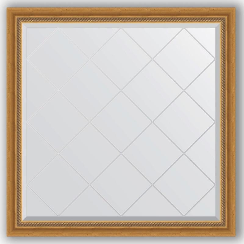Зеркало Evoform Exclusive-G 103х103 Состаренное серебро с плетением зеркало evoform exclusive 133х53 состаренное серебро с плетением