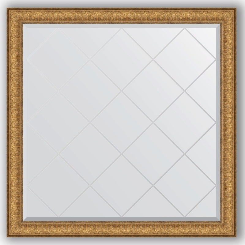 Зеркало Evoform Exclusive-G 104х104 Медный эльдорадо