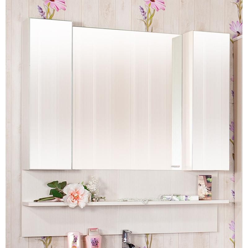 Зеркальный шкаф Бриклаер Карибы 100 Дуб антик/сатин зеркальный шкаф бриклаер бали 40 светлая лиственница