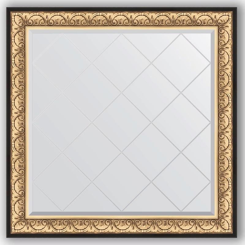 Зеркало Evoform Exclusive-G 110х110 Виньетка античная бронза зеркало evoform exclusive 165х75 виньетка античная бронза