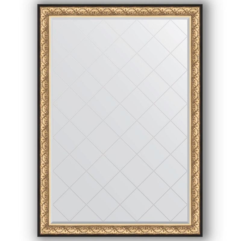 Фото - Зеркало Evoform Exclusive-G 190х135 Барокко золото зеркало с гравировкой поворотное evoform exclusive g 70x160 см в багетной раме барокко золото 106 мм by 4165