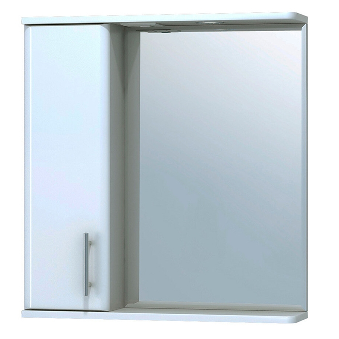 Зеркало со шкафом Vigo Vito 65 L с подсветкой Белое