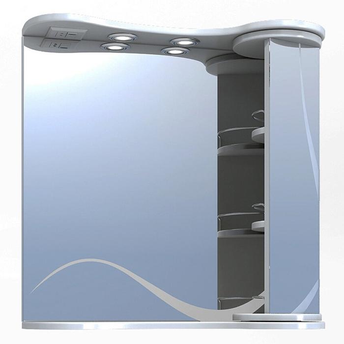 Зеркало со шкафом Vigo Callao 70 с подсветкой Белое зеркало со шкафом vigo callao 60 l с подсветкой белое