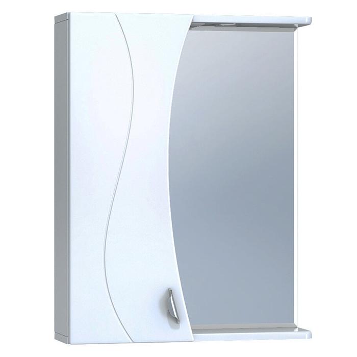 Зеркало со шкафом Vigo Faina 55 L с подсветкой Белое зеркало со шкафом vigo callao 60 l с подсветкой белое