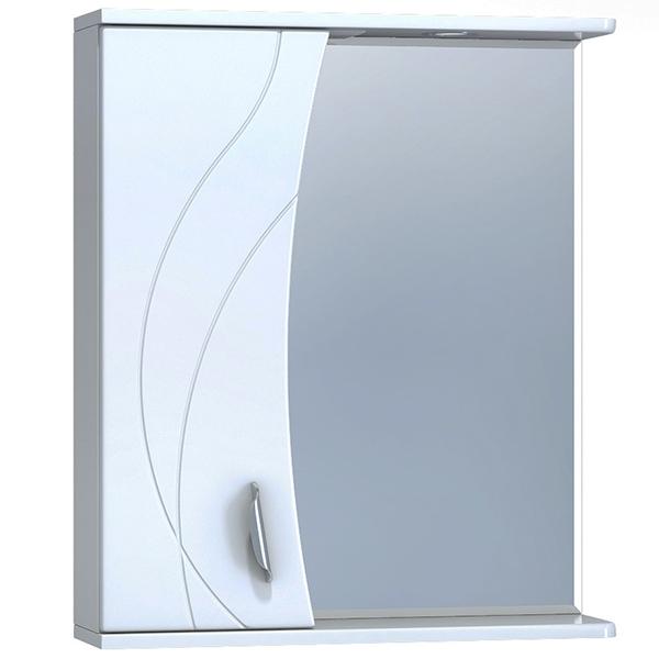 Зеркало со шкафом Vigo Faina 2-60 L с подсветкой Белое зеркало со шкафом vigo callao 60 l с подсветкой белое