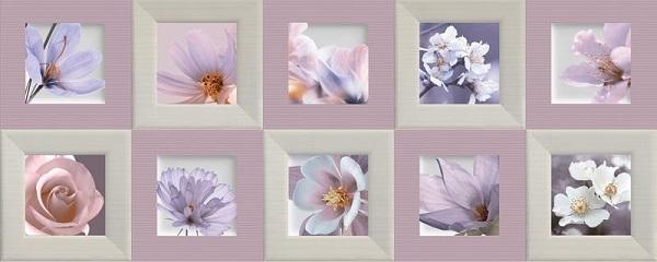 Керамическая плитка Ibero Charme Decor Violet Rev. настенная 20х50см керамический декор ibero charme decor amour violet a 20х50см