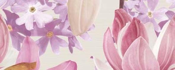 Керамический декор Ibero Charme Decor Amour Violet A 20х50см керамический декор ibero charme decor amour violet a 20х50см