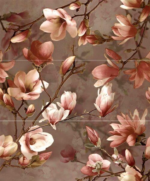 Керамический декор Ibero Charme Decor Magnolia (A, B, C) 20x50см панно ibero groove decor waterefall a b c 75x75 комплект