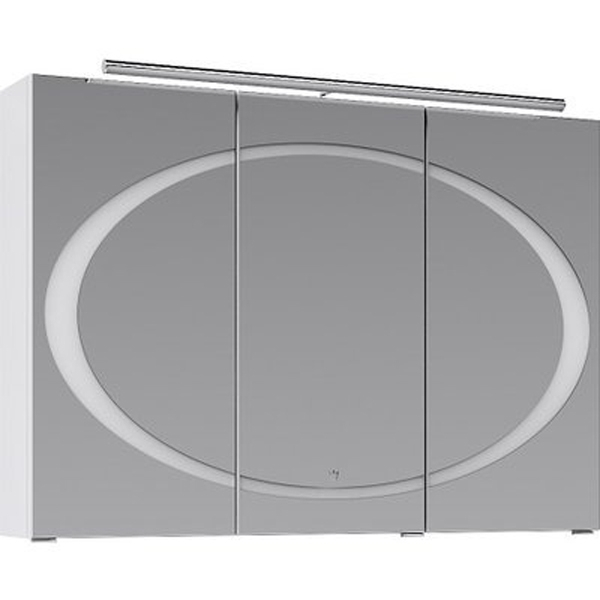 Зеркальный шкаф Aqwella Дюна 100 Dun.04.10/W с подсветкой Белый