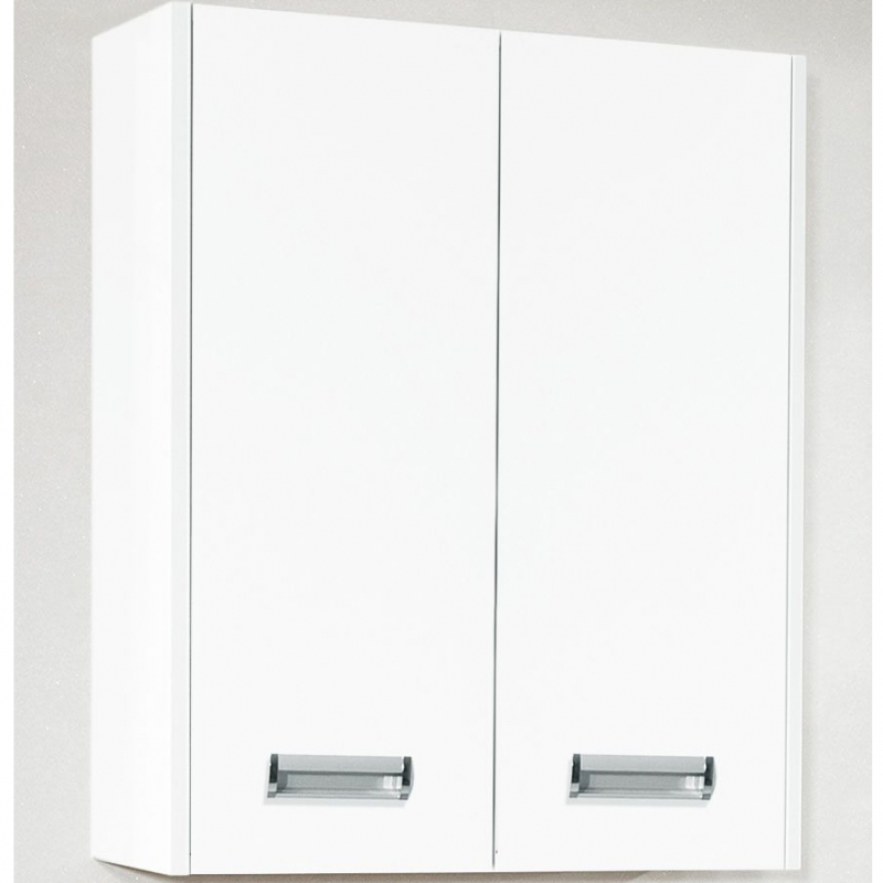Подвесной шкаф Бриклаер Палермо 62 Белый глянец зеркальный шкаф бриклаер бали 40 светлая лиственница