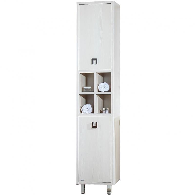 Шкаф пенал Бриклаер Хоккайдо 40 с бельевой корзиной Светлая лиственница цены