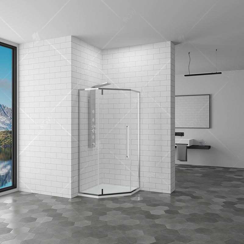 Душевой уголок RGW Stilvoll SV-81 100x100 профиль Хром стекло прозрачное