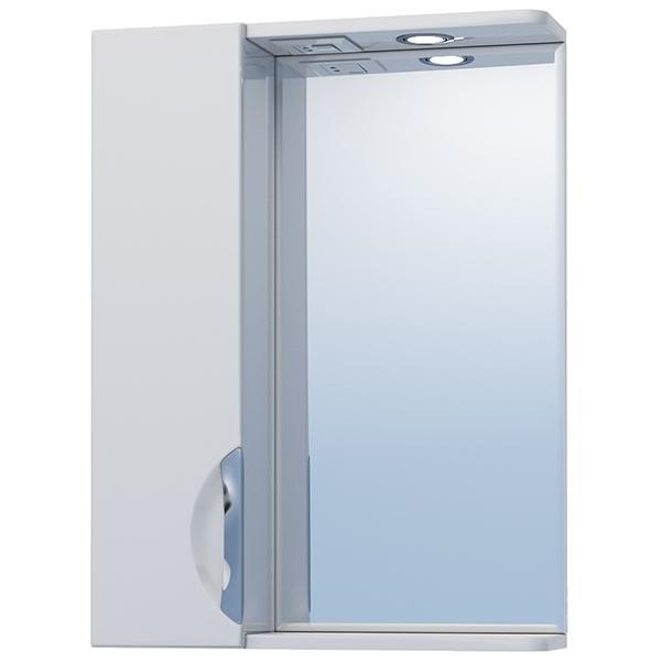 Зеркало со шкафом Vigo Callao 50 L с подсветкой Белое зеркало со шкафом vigo callao 60 l с подсветкой белое