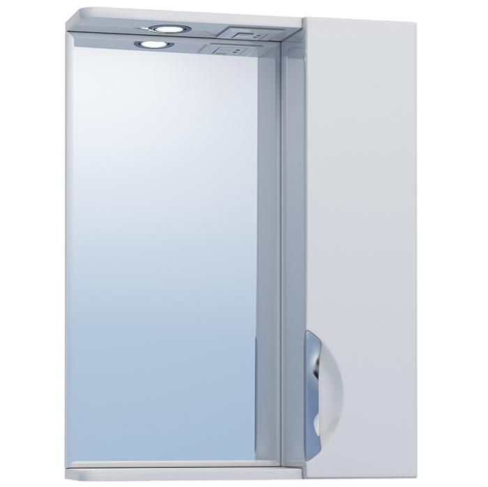 Зеркало со шкафом Vigo Callao 50 R с подсветкой Белое зеркало со шкафом vigo callao 60 l с подсветкой белое