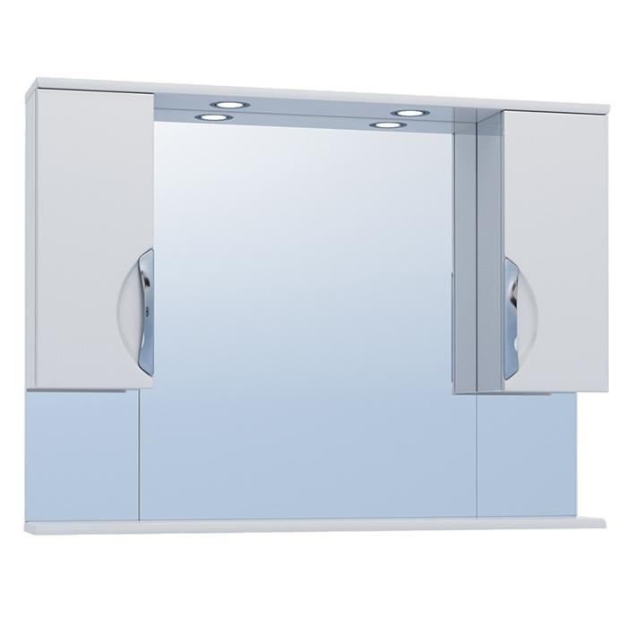 Зеркало со шкафом Vigo Callao 100 с подсветкой Белое зеркало со шкафом vigo callao 60 l с подсветкой белое