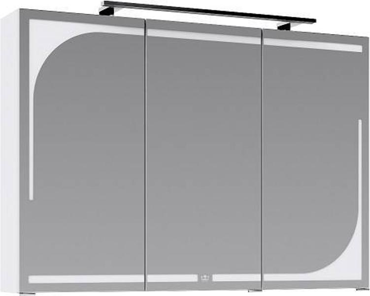 Зеркальный шкаф Aqwella Папирус 100 Pap.04.10/W с подсветкой Белый зеркальный шкаф vitra metropole 100 с подсветкой сливовое дерево