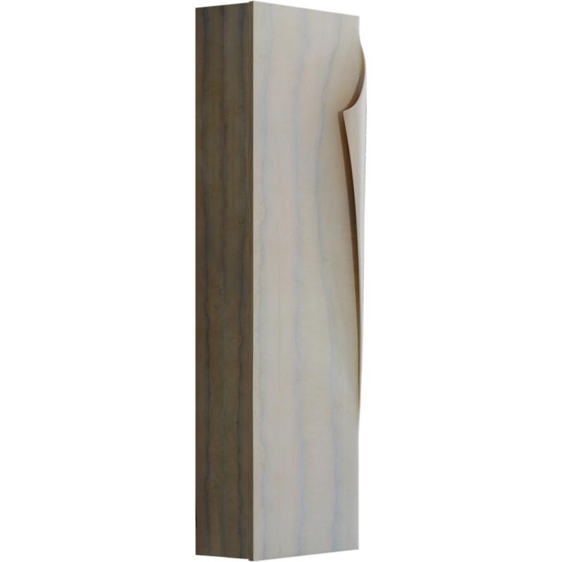Шкаф пенал Aqwella Clarberg Papyrus Wood 35 Pap-w.05.35/LIGHT подвесной Светлое дерево тумба под раковину aqwella clarberg papyrus wood 100 pap w 01 10 light подвесная светлое дерево