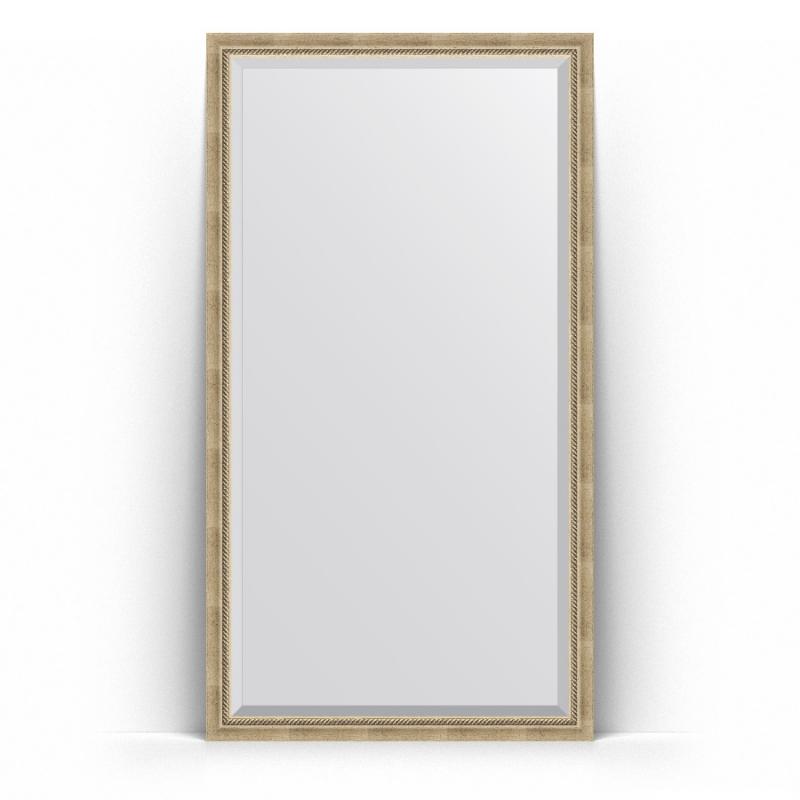 Зеркало Evoform Exclusive Floor 198х108 Состаренное золото с плетением зеркало evoform exclusive g floor 198х78 состаренное золото с плетением