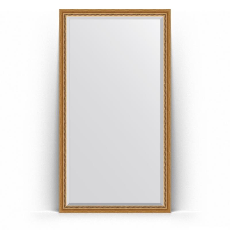 Зеркало Evoform Exclusive Floor 198х108 Состаренное серебро с плетением