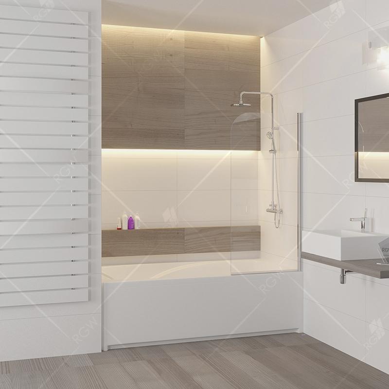 Шторка на ванну RGW Screens SC-09 70x150 профиль Хром стекло прозрачное шторка на ванну rgw screens sc 09 70x150 профиль хром стекло прозрачное