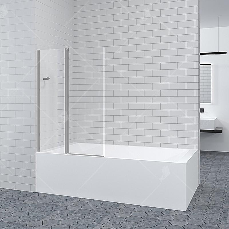 Шторка на ванну RGW Screens SC-11 100x140 профиль Хром стекло прозрачное