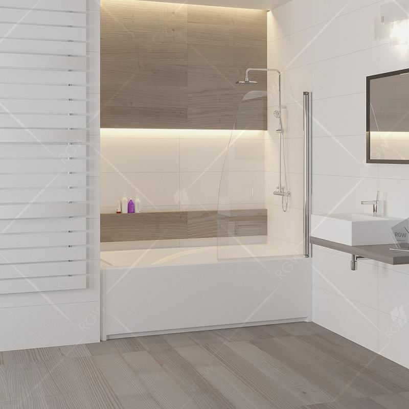 Шторка на ванну RGW Screens SC-36 70x150 профиль Хром стекло прозрачное шторка на ванну rgw screens sc 09 70x150 профиль хром стекло прозрачное