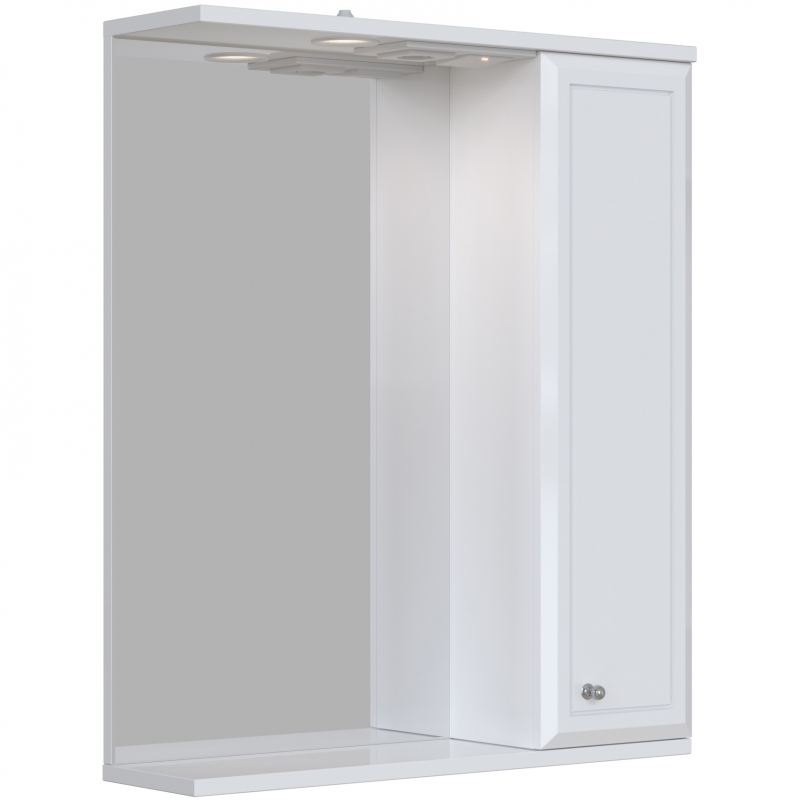 Зеркальный шкаф San Star Афина 60 с подсветкой Белый подвесной шкаф san star 60 белый