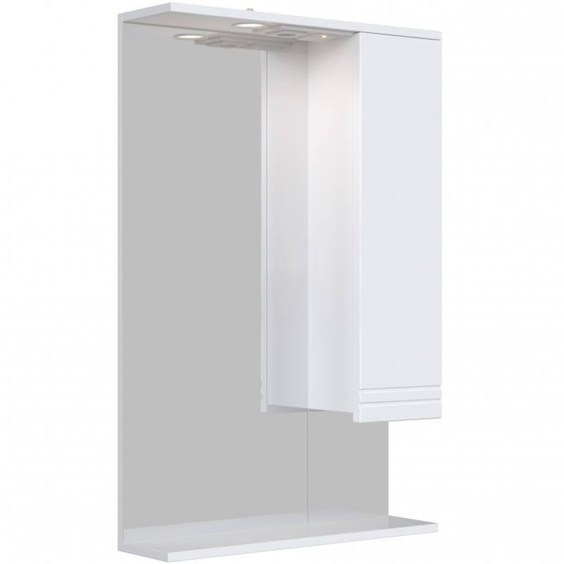 Зеркальный шкаф San Star Мира 60 с подсветкой Белый подвесной шкаф san star 60 белый