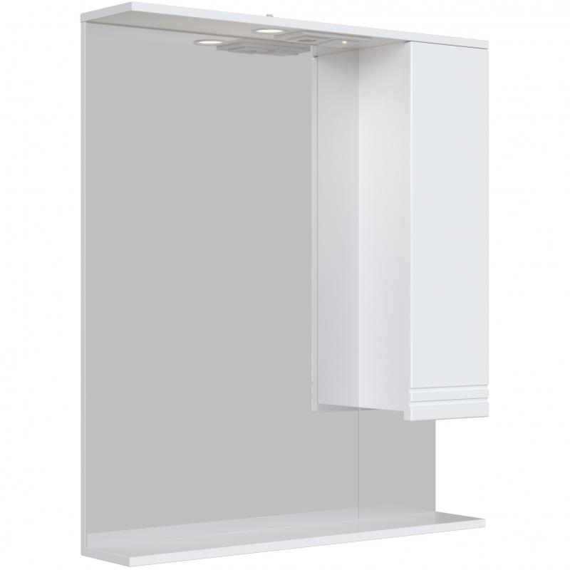 Зеркальный шкаф San Star Мира 80 с подсветкой Белый зеркальный шкаф san star селена 80 с подсветкой белый