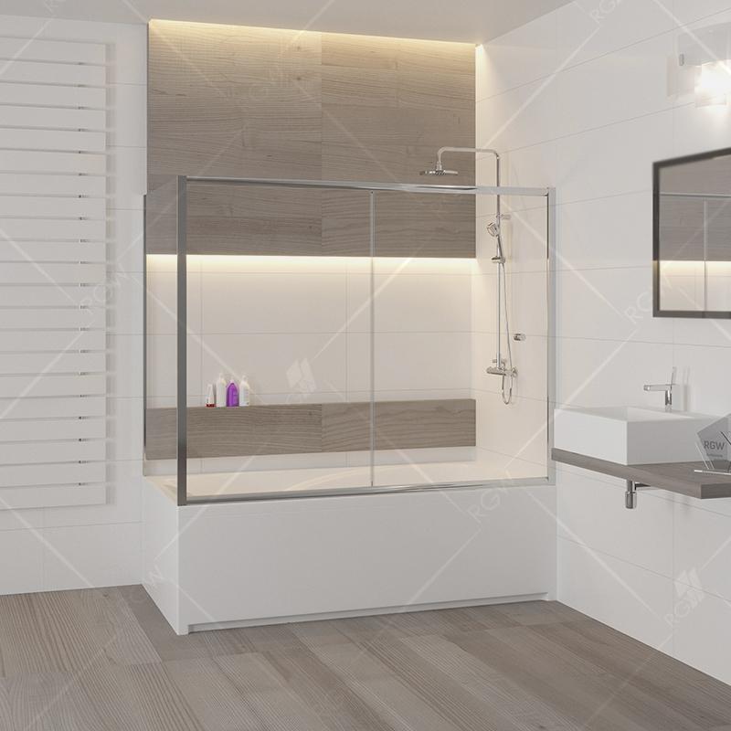 Шторка на ванну RGW Screens SC-82 170x70 профиль Хром стекло прозрачное шторка на ванну rgw screens sc 09 70x150 профиль хром стекло прозрачное