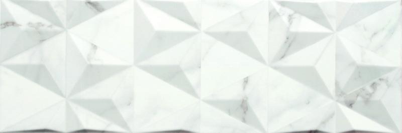 Керамическая плитка Gemma Valentina White Geometric настенная 20х60 см