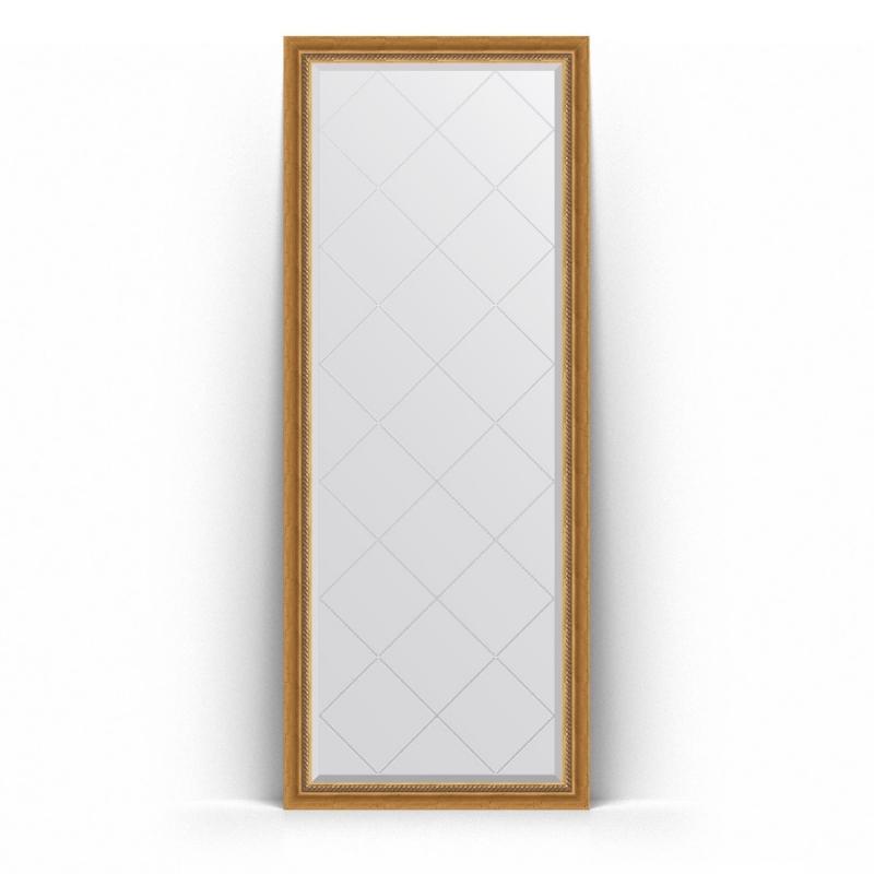 Зеркало Evoform Exclusive-G Floor 198х78 Состаренное золото с плетением зеркало evoform exclusive g floor 198х78 состаренное золото с плетением