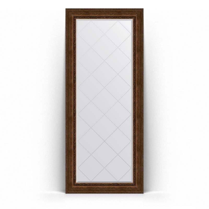 Зеркало Evoform Exclusive-G Floor 207х87 Состаренное серебро с орнаментом автомобильный видеорегистратор prestigio roadrunner 415gps черный