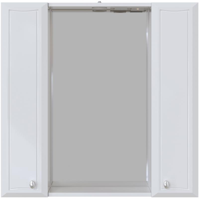 Зеркальный шкаф San Star Шармель 80 с подсветкой Белый зеркальный шкаф san star селена 80 с подсветкой белый