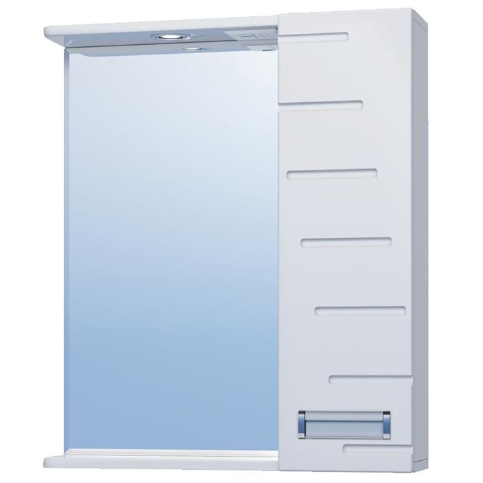 Зеркало со шкафом Vigo Diana 60 R с подсветкой Белое зеркало со шкафом vigo callao 60 l с подсветкой белое