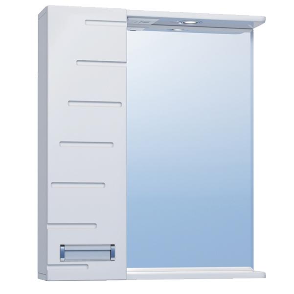 Зеркало со шкафом Vigo Diana 60 L с подсветкой Белое зеркало со шкафом vigo callao 60 l с подсветкой белое