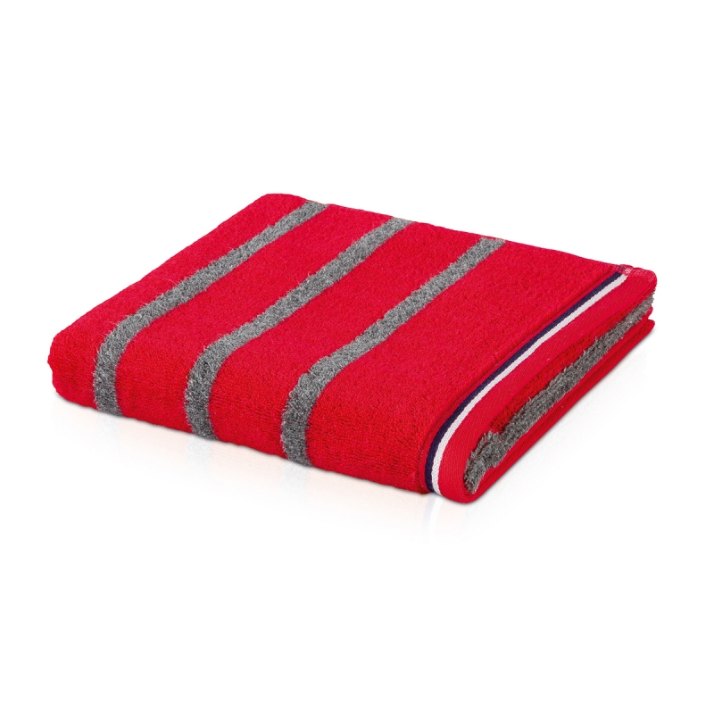 Махровое полотенце Moeve Athleisure Striped 50x100 Красное