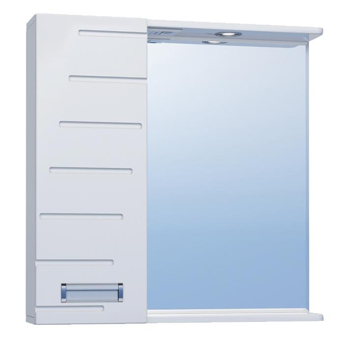 Зеркало со шкафом Vigo Diana 70 L с подсветкой Белое зеркало со шкафом vigo callao 60 l с подсветкой белое