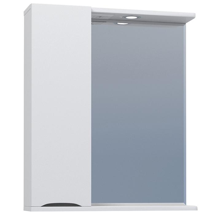 Зеркало со шкафом Vigo Minor 60 L с подсветкой Белое зеркало со шкафом vigo callao 60 l с подсветкой белое