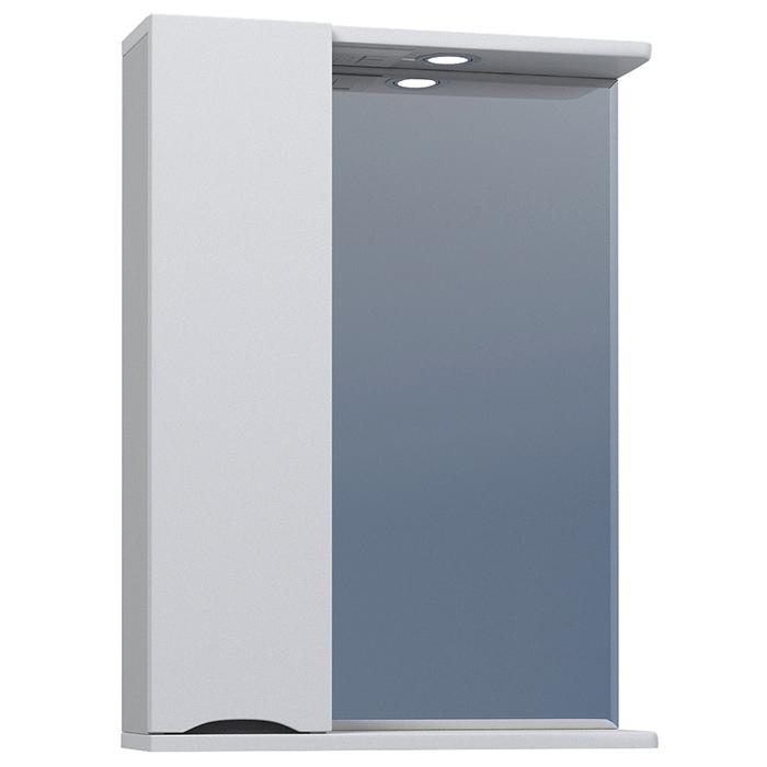 Зеркало со шкафом Vigo Minor 50 L с подсветкой Белое зеркало со шкафом vigo callao 60 l с подсветкой белое