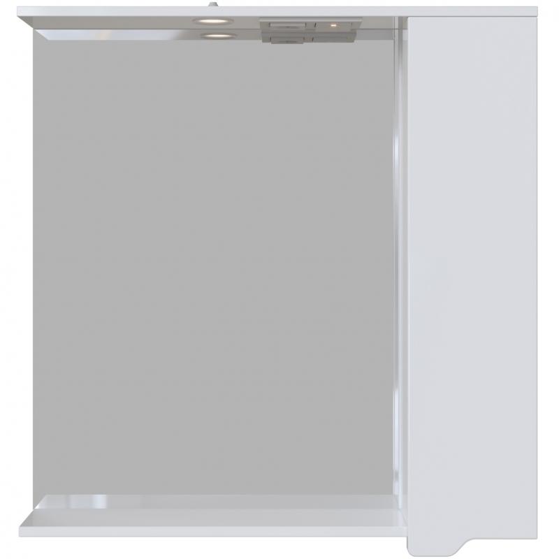 Зеркальный шкаф San Star Лайн 80 с подсветкой Белый зеркальный шкаф san star селена 80 с подсветкой белый